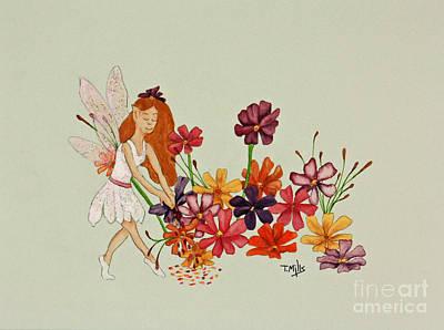 October Art Print by Terri Mills