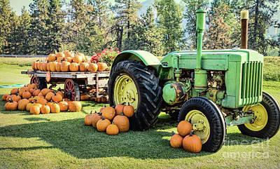 Photograph - October Tractor by Jean OKeeffe Macro Abundance Art