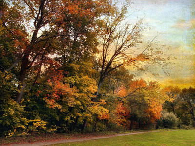 Autumn Landscape Digital Art - October Trail by Jessica Jenney