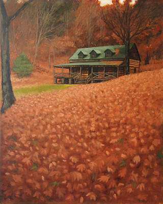 Dog Trots Painting - October Weekend by Suzanne Shelden