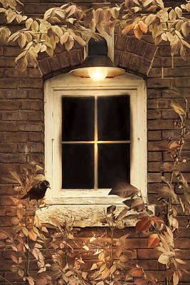 Photograph - October Window by Robin-Lee Vieira