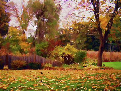 Photograph - October Yard by Betsy Zimmerli