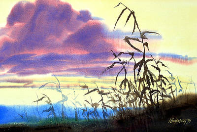 Cornstalks Painting - October's Kiss by Lee Klingenberg