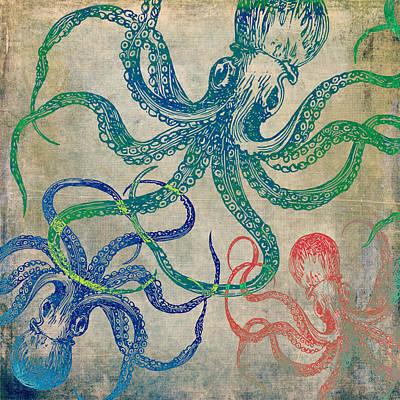 Octopus Mixed Media - Octopi V1 by Brandi Fitzgerald
