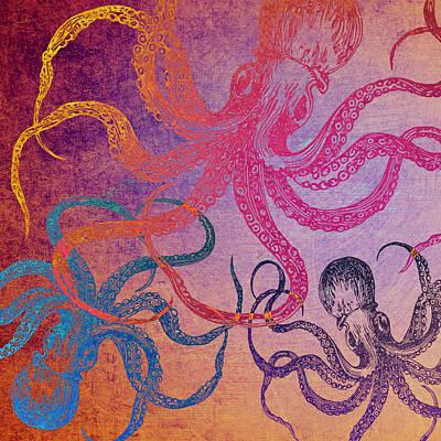 Octopus Mixed Media - Octopi V2 by Brandi Fitzgerald
