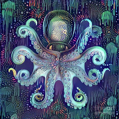 Octopus Art Print by Amy Cicconi