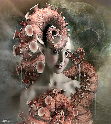 Aquatic Life Mixed Media - Octopus Beauty by G Berry