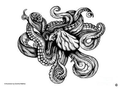 Digital Art - Octopus by Carolina Matthes