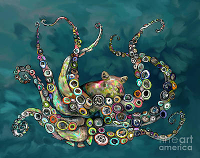 Painting - Octopus Colorful by Tim Gilliland