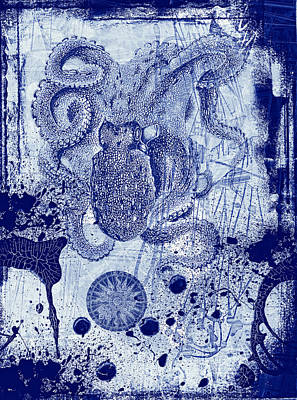 Octopus In It's Own Ink Original by Thomas Bollinger