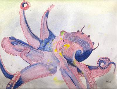 Octopus Painting - Octopus In Motion by Natalie Hood