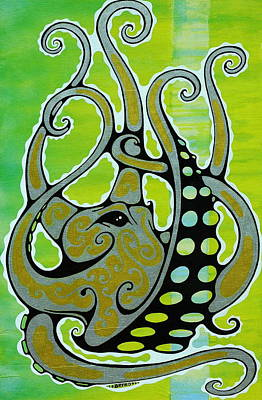 Days Painting - Octopus by John Benko