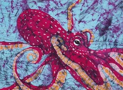 Tapestry - Textile - Octopus  by Kay Shaffer