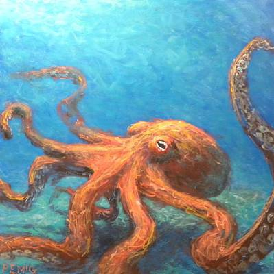 Painting - Octopus by Paul Emig