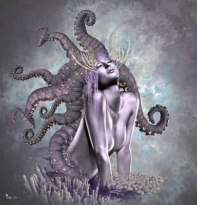 Digital Art - Octopus Sensuality by Ali Oppy