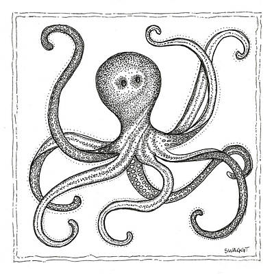 Beach Drawing - Octopus by Stephanie Troxell