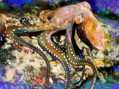 Suckers Painting - Octopus by Steven Williford