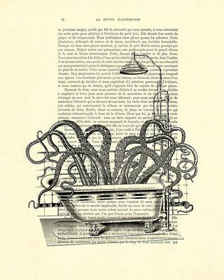Clip-art Digital Art - Octopus Taking A Bath by Madame Memento