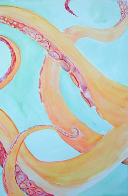 Octopus Painting - Octopus Triptych 2 by Rachel Dutton