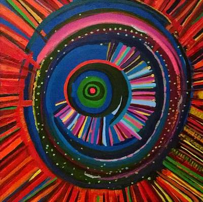 Ocular Energy Path Art Print by Daina White