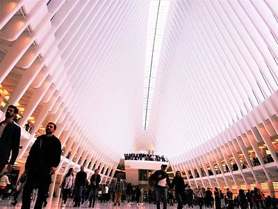 Photograph - Oculus Crowds In New York  by Funkpix Photo Hunter