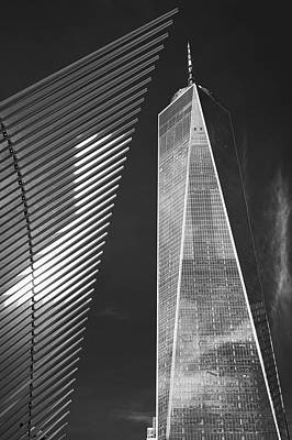 Photograph - Oculus Wing And The Freedom Tower by Jerry Fornarotto