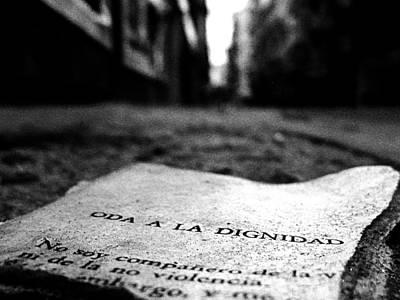 Ode Photograph - Oda A La Dignidad by Osvaldo Hamer