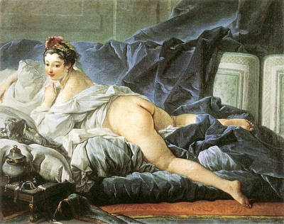 Bed Spread Painting - Odalisque 1745 by Francois Boucher