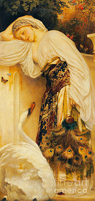 Reverie Painting - Odalisque by Frederic Leighton