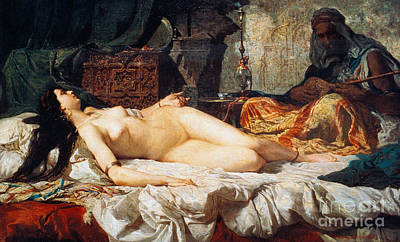 Odalisque  Turkish Slave, 1861 Art Print by Mariano Fortuny y Carbo