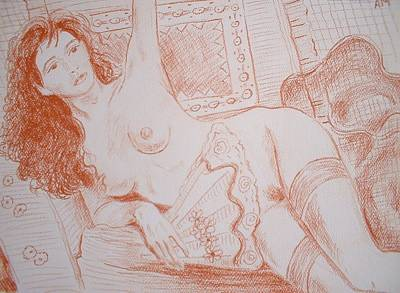 Odalisque With A Fan  Original by Anthony Maulucci