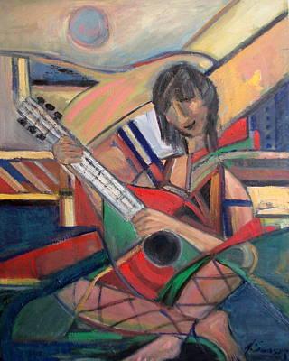 Odalisque With Mandolin Original