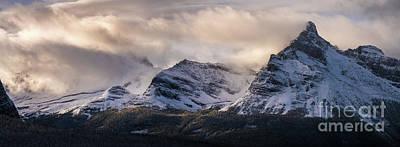 Photograph - Odaray Mountain Range Canadian Rockies by Mike Reid