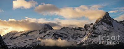 Photograph - Odaray Mountain Range Dusk Panorama by Mike Reid