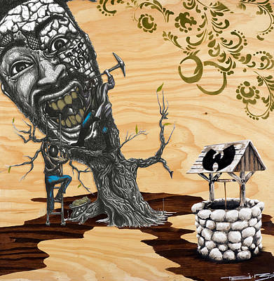 Tribute Mixed Media - Odb Tree Mining Down By The Wu-tang Well by Tai Taeoalii