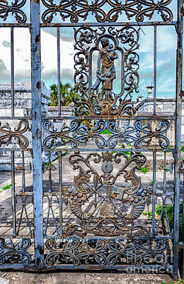 Photograph - Odd Fellows Rest Cemetery Gate- Nola by Kathleen K Parker