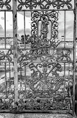 Photograph - Odd Fellows Rest Gate-nola- Bw by Kathleen K Parker