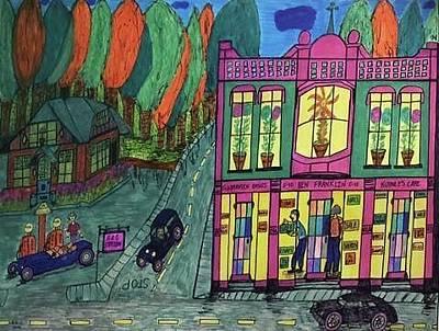 Oddfellows Building. Historical Menominee Art. Original by Jonathon Hansen