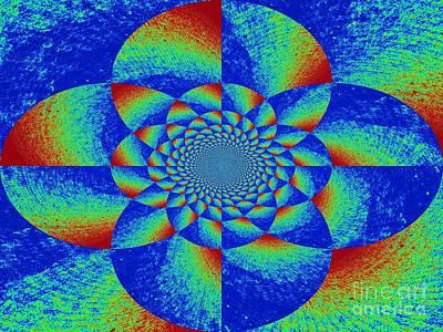 Oddly Mandala Art Print by Chuck Taylor