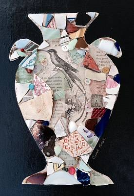Mixed Media - Ode To A Broken Urn by Carol Neal