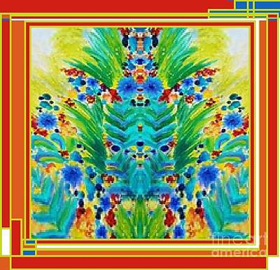 Painting - Ode To A Colorful Bug by Catherine Lott