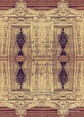 Photograph - Ode To A Grecian Urn Palais Garnier Paris France by Beverly Claire Kaiya