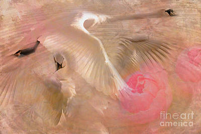 Digital Art - Ode To A Swan 2015 by Kathryn Strick