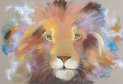 Animals Paintings - Ode to Cecil by Nataya Crow