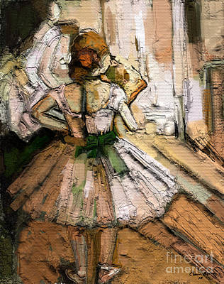 Heavy Woman Painting - Ode To Degas by Carrie Joy Byrnes