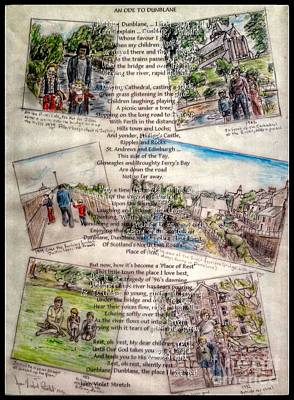 Mixed Media - Ode To Dunblane by Joan-Violet Stretch
