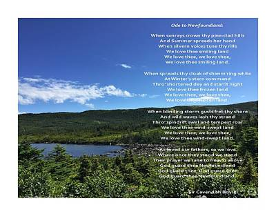 Photograph - Ode To Newfoundland 2 by Barbara Griffin
