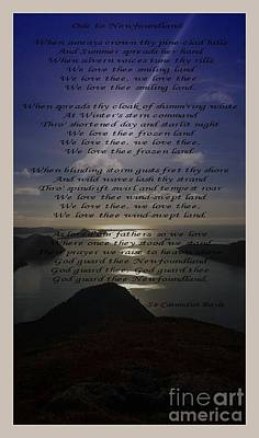 Photograph - Ode To Newfoundland by Barbara Griffin