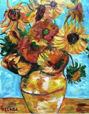 Painting - Ode To Vincent - Mes Tournesols by Belinda Low