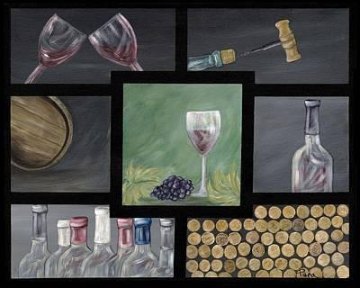 Italian Wine Painting - Ode To Wine by Piera Marotto